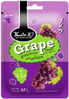 Fruite-10 ลูกอมเคี้ยวหนึบผสมผลไม้ 10% กลิ่นองุ่น 25 กรัม
